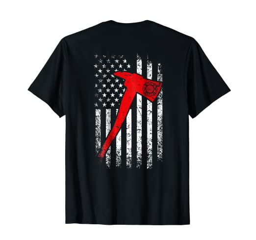 c1f482b0 Image Unavailable. Image not available for. Color: Thin Red Line  Firefighter T-Shirt Fire Axe Distressed Design