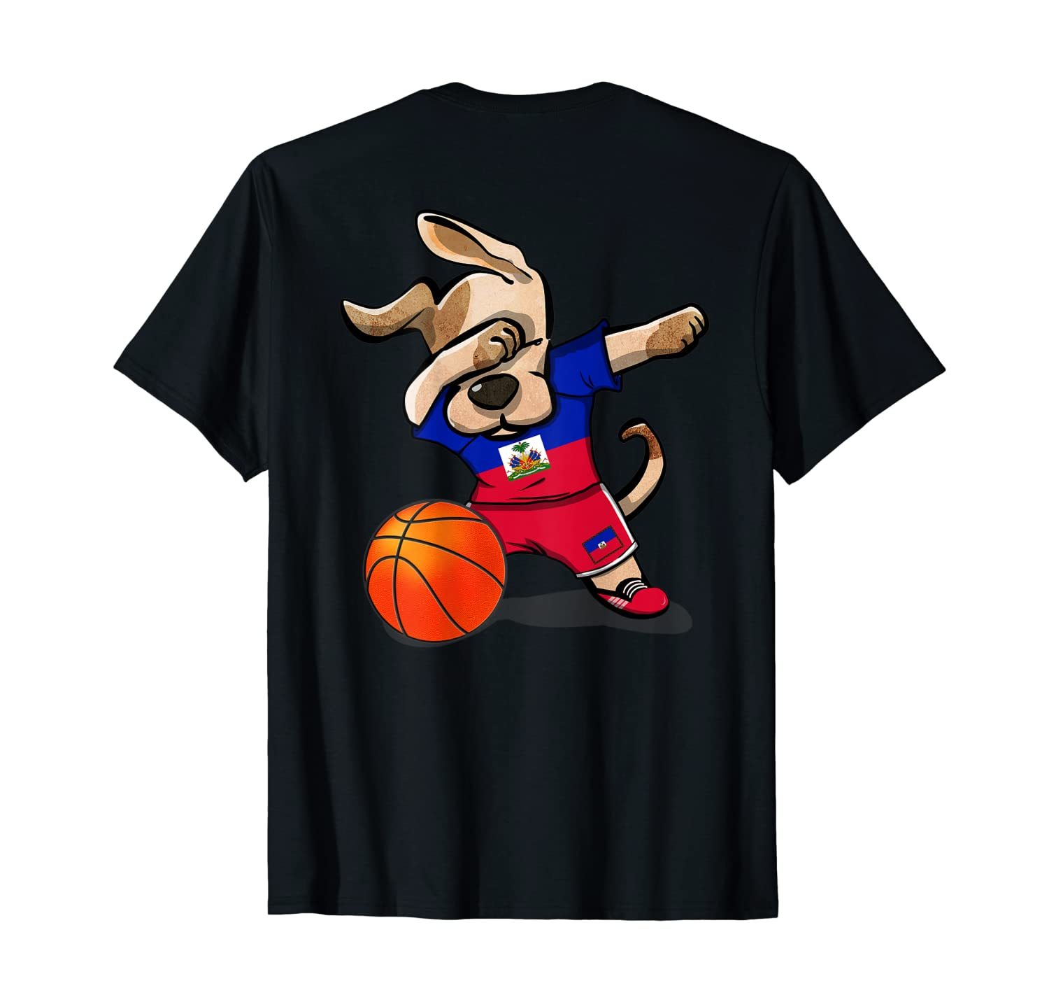 Dog Dabbing Haiti Basketball Haitian Sport Team Shirts
