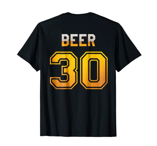 369ee01f3 Image Unavailable. Image not available for. Color  Mens Beer 30 Baseball  Style Jersey Uniform T-Shirt
