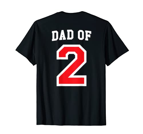 Dad Of Two 2 Kids, Father's Day Anniversary Gift T Shirt