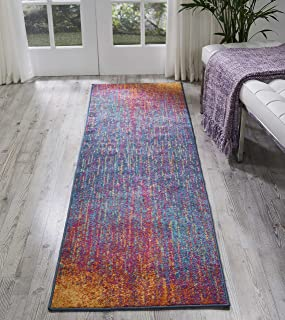Nourison Passion Modern Abstract Colorful Multicolor Area Rug Runner, 2'2