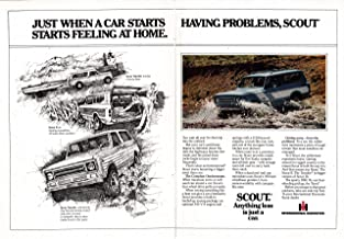 1979 International Harvester Scout II + Traveler -Original 2 Page Magazine Ad