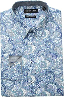 Paisley Print Stretch Shirt