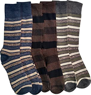 6 Pair Pack Of Nicole Miller Cotton Fashion Dress Socks Stripes Solids And Argyles