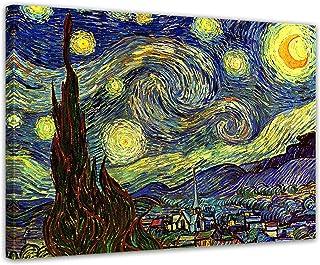 Tableau La Nuit Étoilée Vincent Van Gogh 75 X 55 Cm
