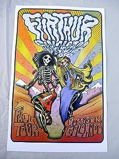 2010 Grateful Dead Furthur Red Rocks Concert Poster Fall Tour Phil Lesh