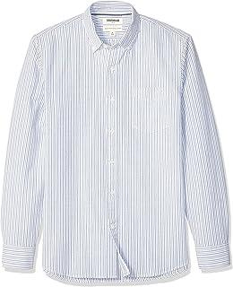 Amazon Brand - Goodthreads Men's Standard-Fit Long-Sleeve Plaid Oxford Shirt