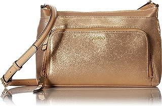 Calvin Klein bolsa cruzada de ante con cierre superior