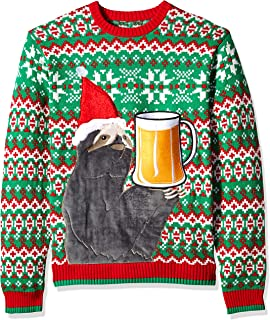 Blizzard Bay Men's Ugly Christmas Sweater Drink Pocket