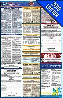 2019 Georgia Labor Law Poster – State, Federal, OSHA Compliant – Single Laminated Poster