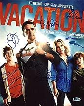 Vacation (Ed Helms, Christina Applegate +6) Signed 11X14 Photo BAS #A09810