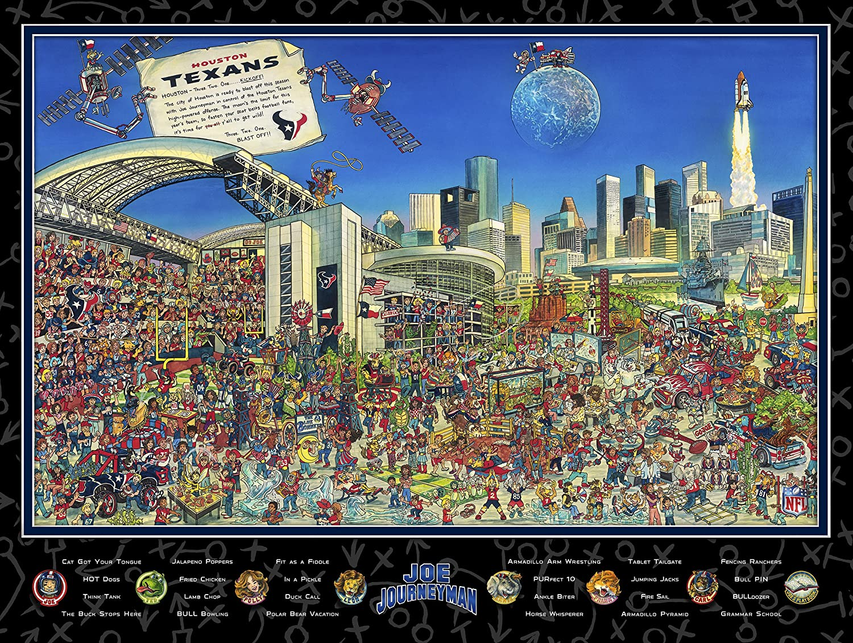 NFL JOE Over item handling Houston Texans Size One Poster Max 75% OFF Black