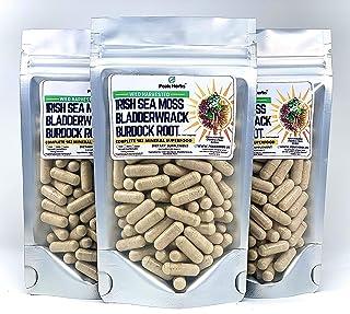 Irish Sea Moss+Bladderwrack+Burdock Root Capsules - Dr. Sebi Inspired - Peak Herbs