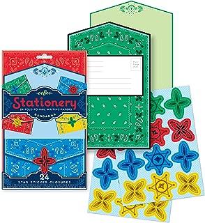 eeBoo Bandanna Fold-to-Mail Stationary Set for Kids