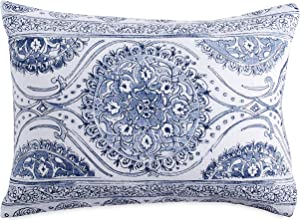 Peri Home Matelasse Medallion 100% Cotton Pillow Sham, Blue