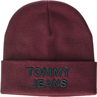 قبعة صغيرة للرجال من تومي هيلفجر، بلون بورغندي، مقاس واحد