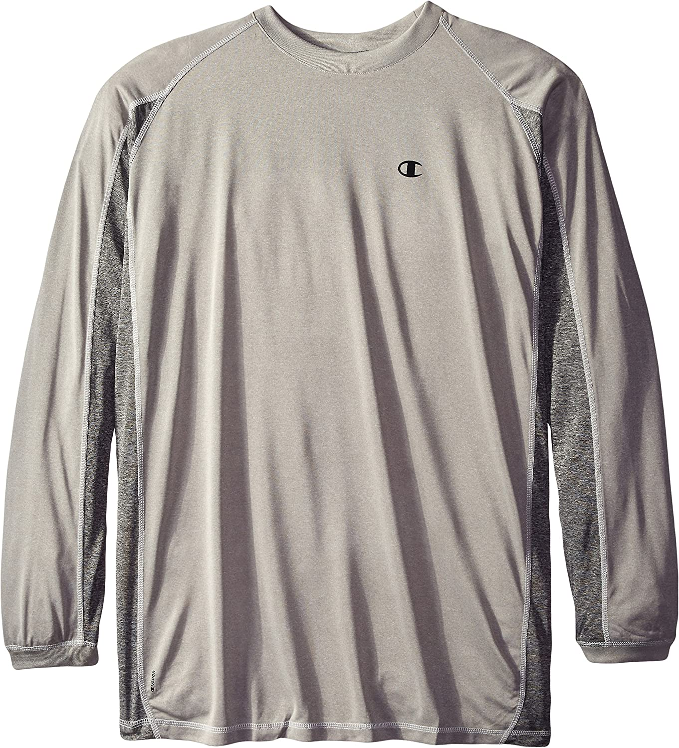 15d0c832aa8a Champion Mens Big & Tall Tall Tall Long-Sleeve Pieced Active Crew T-Shirt  Shirt a4356f