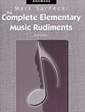 TSCRA - The Complete Elementary Music Rudiments, 2nd Edition: Answer Book