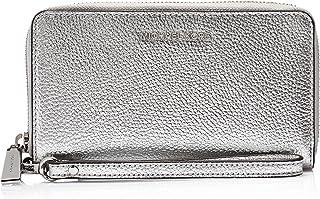 Michael Kors Women's Jet Set large Phone wallet - Silver