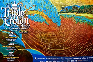 Official 2011 Triple Crown of Surfing North Shore Hawaii Surfing Contest Poster