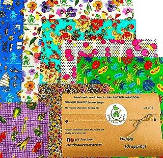 Emballages de cire d'abeille, lot, couleurs aléatoires, BEE Zero Waste, fait à la main, couvercles écologiques biodégradab...