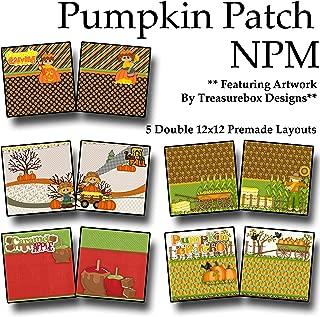PUMPKIN PATCH Non-Photo-Mat Scrapbook Set - 5 Double Page Layouts