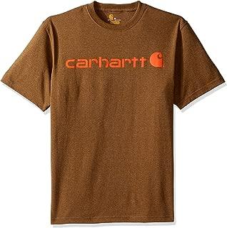 Carhartt Men's Signature Logo Short Sleeve Midweight Jersey T Shirt Graphic