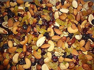 Gemengde noten en druiven - Amandelen, hazelnoten, cashewnoten, pecannoten, paranoten, walnootpitten, rozijnen, veenbessen...