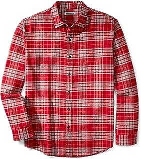 Men's Regular-Fit Long-Sleeve Plaid Flannel Shirt