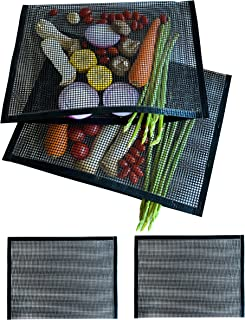 CCM : Non Stick BBQ Mesh Grill Bags, Reusable, High Temperature Resistance Barbeque Grill Bags for Outdoor Grill, Suitable...