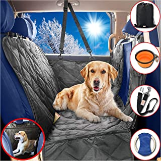 B-comfort Dog Car Seat Covers Hammock for Pets-Back Seat and Doors Protector-Backseat Barrier-Side Flaps,Leak-Proof,Anti-Scratch,Nonslip-Black