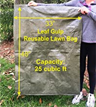 Leaf Gulp All New Reusable Garden Bag Huge 33x48 25cuft for Collecting Lawn Leaves Waste Debris Fits Model 100 as Huge Dustpan Just Sweep Made in USA