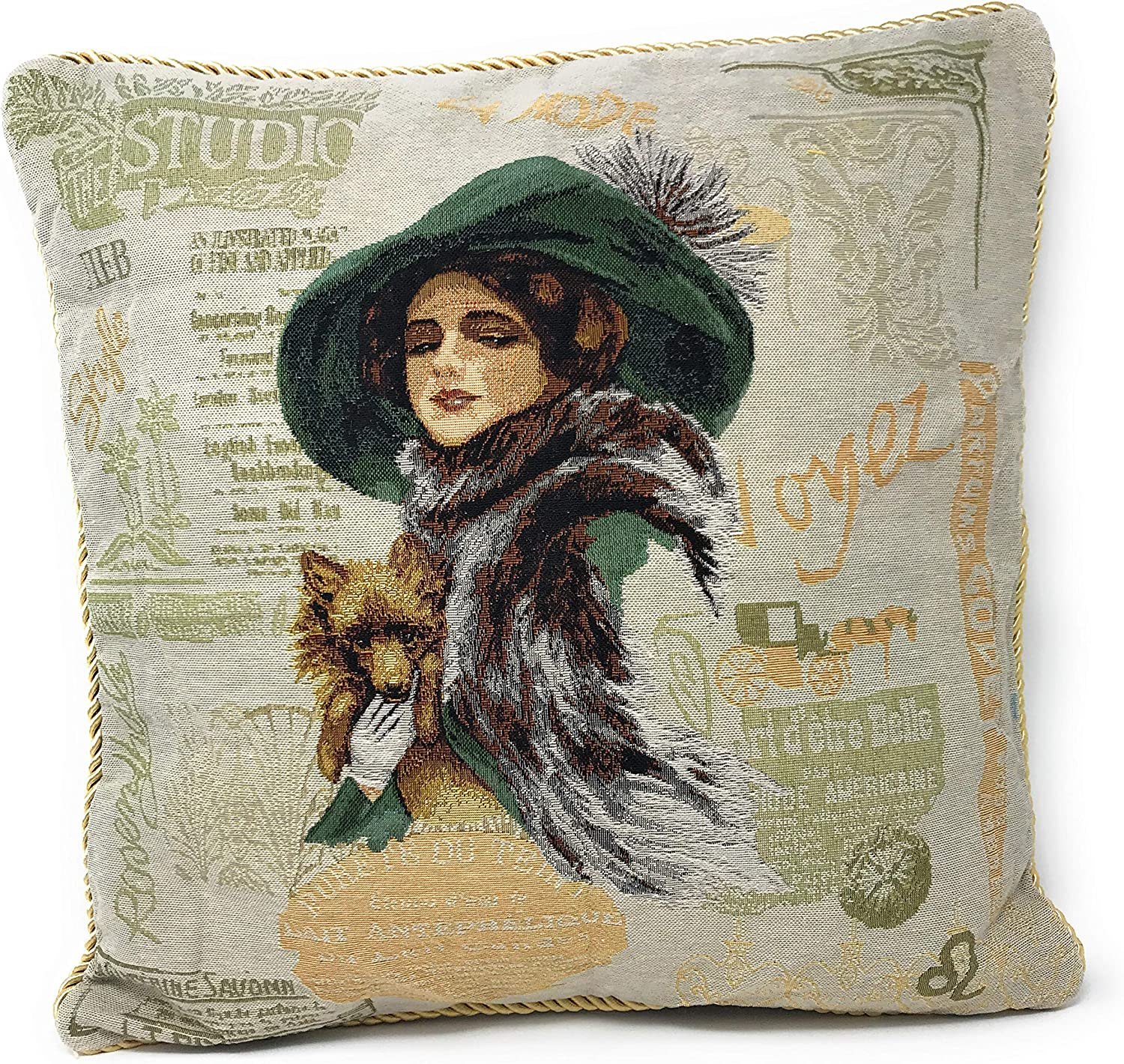 Tache 1 Pc Square Dealing full price reduction Adorable Max 57% OFF Puppy's Pillow Day Cushion Out Throw