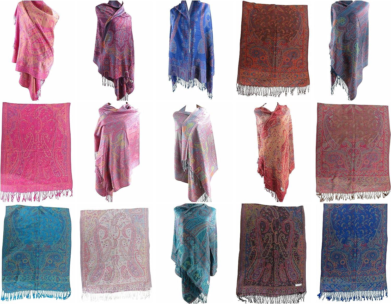 12 scarves retro boho paisley floral pashmina shawl wrap stole Shawl and Wrap