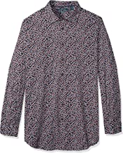 Perry Ellis Men's Big and Tall Long Sleeve Abstract Floral Print Shirt