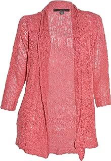 Sheer Knit Open Cardigan (Ruby Grapefruit, Medium)