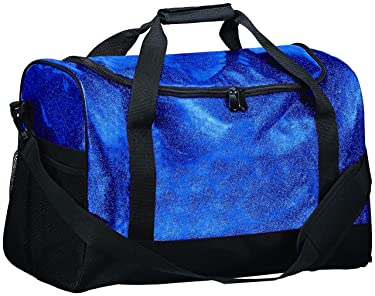 Augusta Sportswear Glitter Duffle Bag OS Gold Glitter/Black