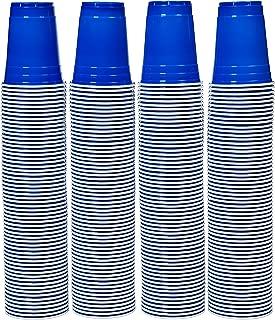 AmazonBasics 16oz Disposable Plastic Cups - 240-Pack, Blue