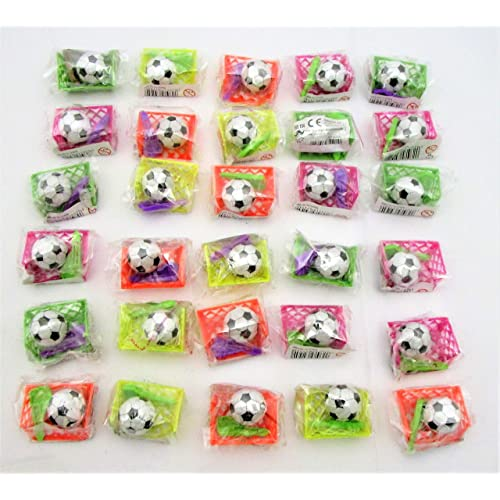 Henbrandt Pack of 30 Assorted Mini Football Games - Christmas Stocking - Party Bag Fillers