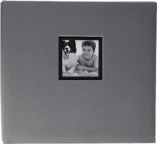 K&Company Gray Fabric Post Bound Window Album 12