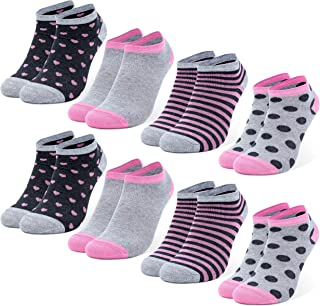 calzini carini da bambini in colori diversi Occulto 8 paia di sneaker calzini da bambini in cotone