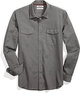 Amazon Brand - Goodthreads Men's Slim-Fit Long-Sleeve Ripstop Dobby Shirt