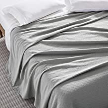 100% COTTON, Soft Premium Thermal Blanket/Throw Lightweight and Breathable Leno Weave - Perfect for Layering Any Bed for A...