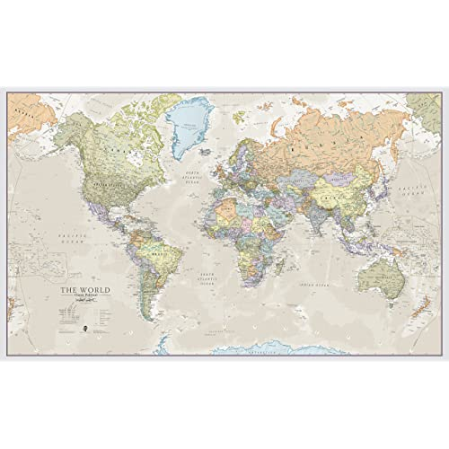 Large Map of The World: Amazon.co.uk