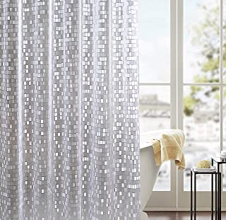 Blessed Clan EVA Shower Curtain with Hooks, 72 x 72 inches (Mosaic)