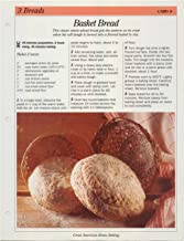 Great American Home Baking Recipe Card: 3 Breads - Card 6 Basket Bread (Replacement Page or Recipe Card For 3-Ring Binders)