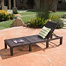Christopher Knight Home 303846 Joyce Outdoor Multibrown Wicker Chaise Lounge Without Cushion