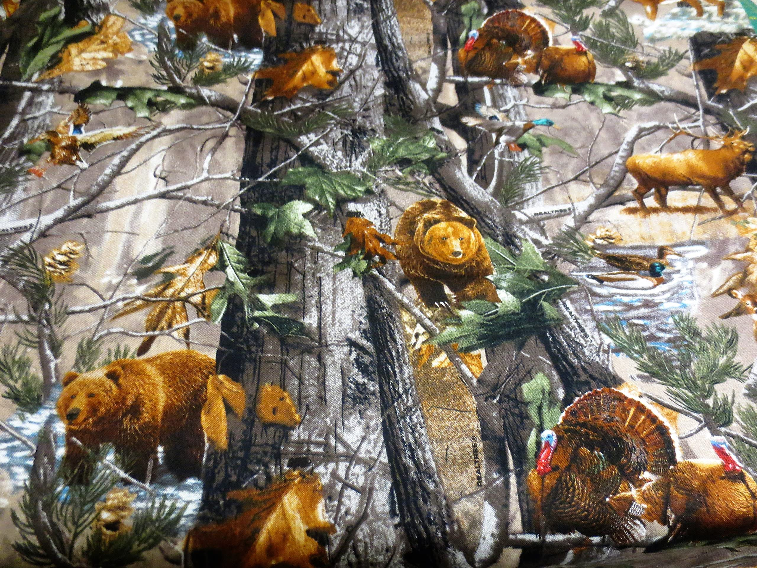 RealTree Camouflage Cotton Fabric Collection-Realtree Quilting Cotton Fabric-Sold By the Yard-100/% Cotton