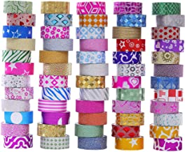 60 Rolls Glitter Washi Tape Set, Washi Masking Decorative Tapes for DIY Decor Planners Scrapbooking Adhesive School/Party ...