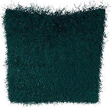 وسادة أريكة شاجي لامعة بتصميم أرابيل، مقاس 45.72 سم، باللون الأخضر الزمردي من SARO LIFESTYLE